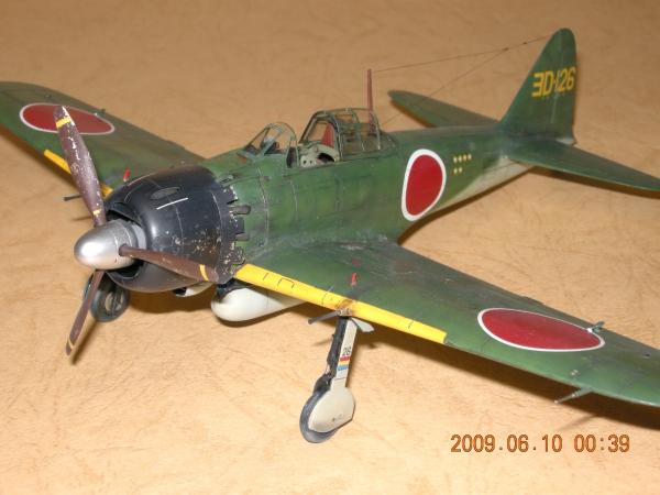 タミヤ1/48ゼロ戦52甲型