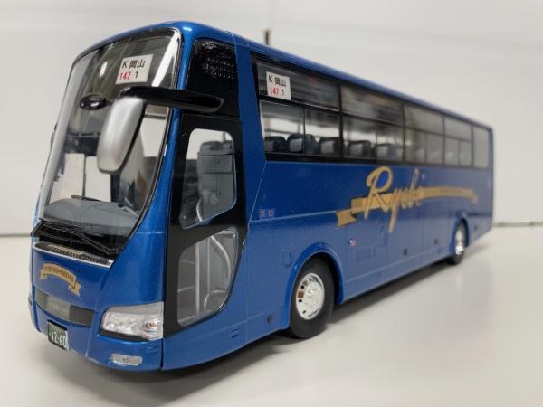 フジミ 1/32 エアロクイーン 両備観光バス 観光バス改造