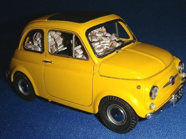 ルパン三世カリオストロの城 追跡改 札束FIAT500