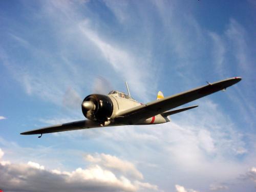 零式艦上戦闘機21型、飛翔