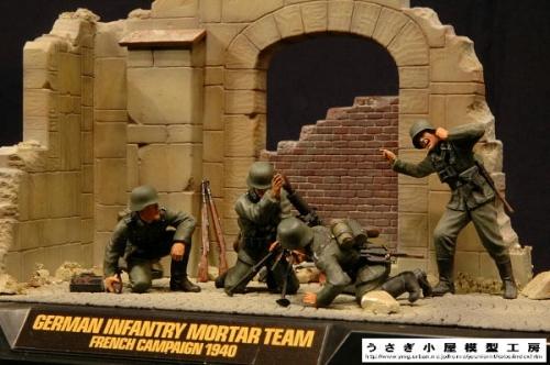 ドイツ迫撃砲チーム フランス戦線1940