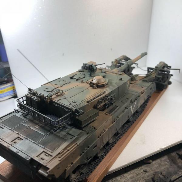 35タミヤ90式マインローラ