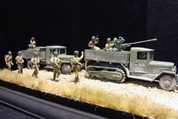 1/72 ソビエト37mmASSP Gunと砲兵