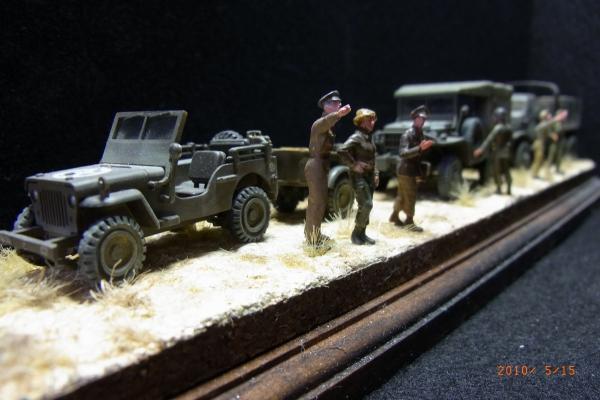 1/72 米陸軍車両(ジープ等)と兵士たち