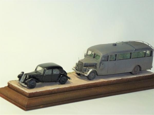 1/72 ドイツ軍用バス・乗用車