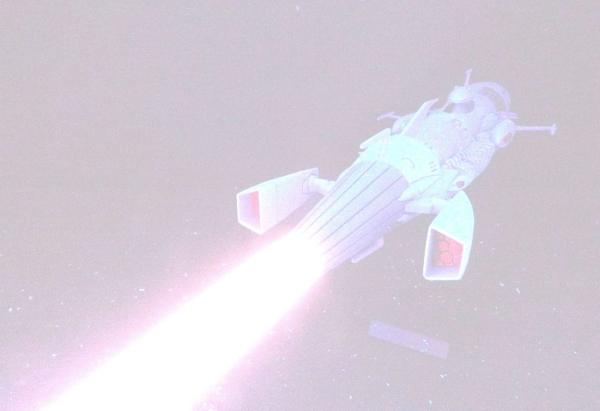 デスラー艦 / デスラー砲 発光撮影