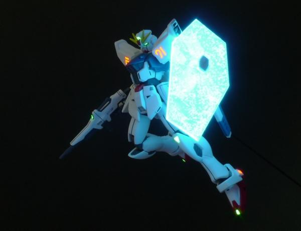 HGUC ガンダムF91 ビームシールド発光撮影