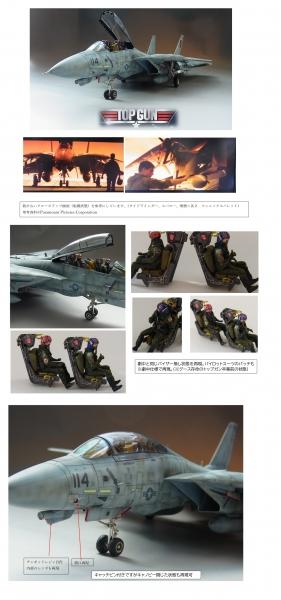 映画トップガン仕様F14Aトムキャット 1/48タミヤ