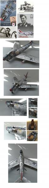 1/32ハルトマン搭乗 F86F40カナディアンセイバー