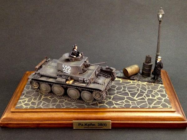 1/48 ドイツ軽戦車 38(t) E/F型