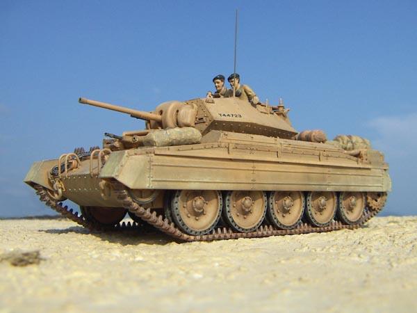 北アフリカ戦線のクルセーダー巡航戦車